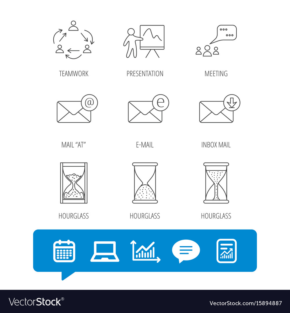 teamwork presentation and meeting chat bubbles vector image