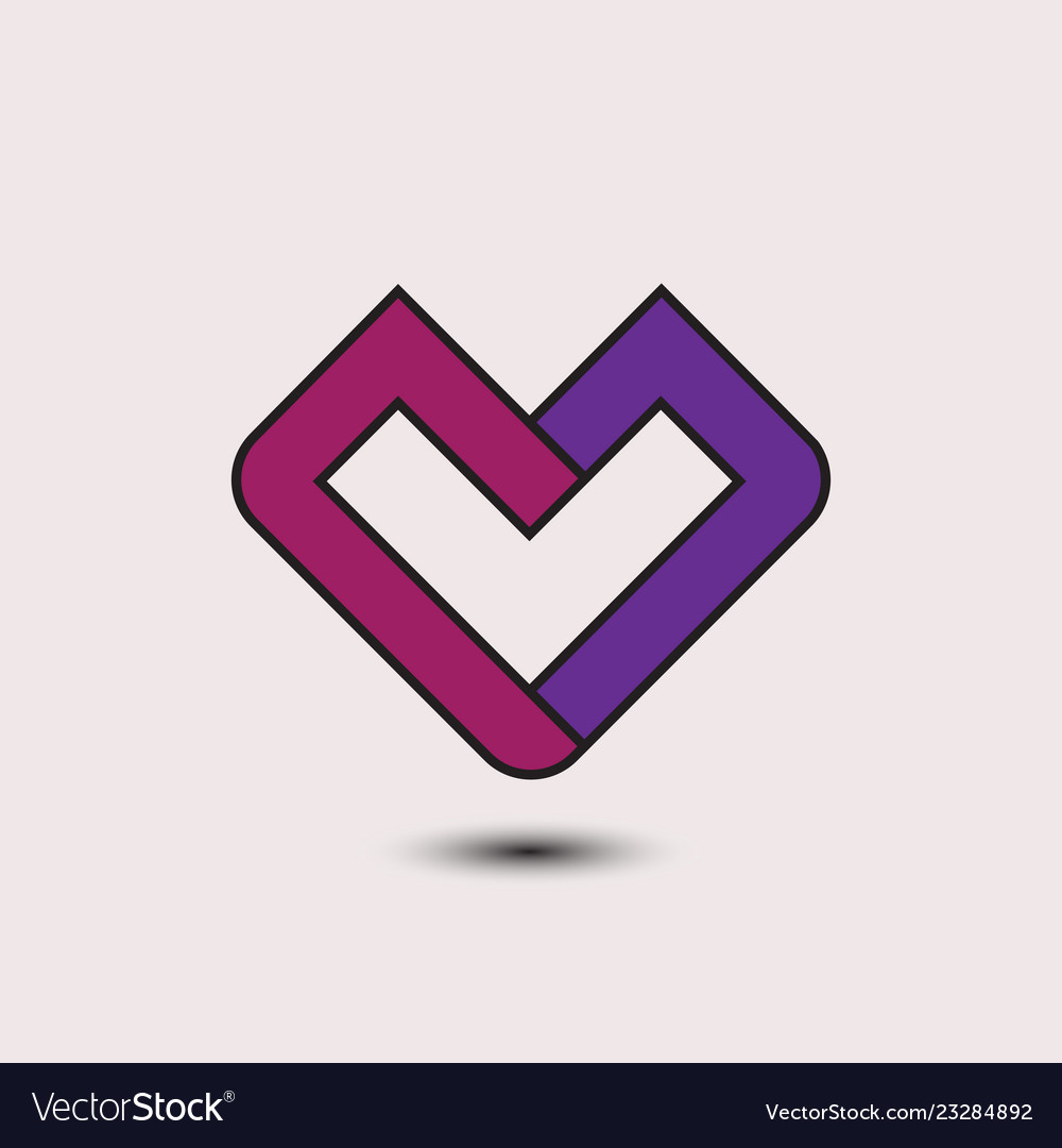 Abstract love logo