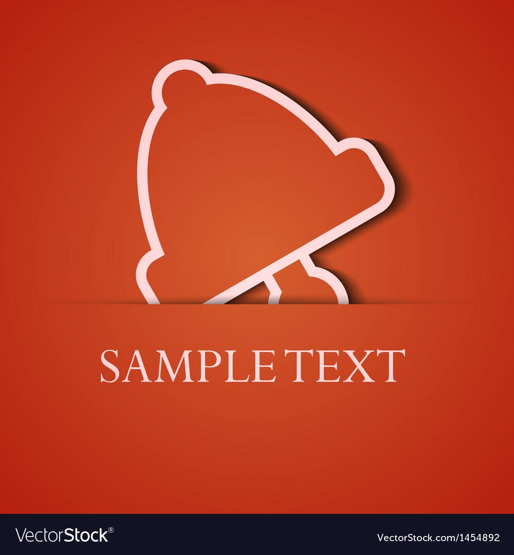 Background orange icon applique eps10