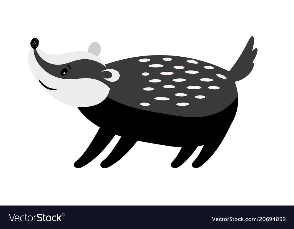 Badger cute cartoon animal