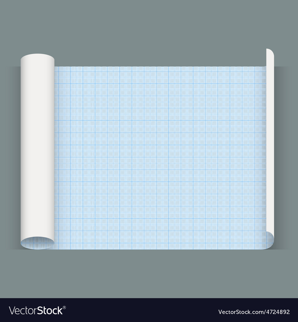 Big sheet of a squared paper Whatman paper vector image