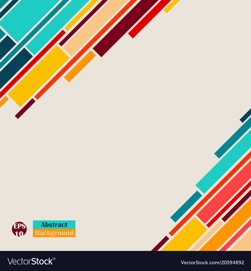 colorful of abstract simple lines geometric vector image