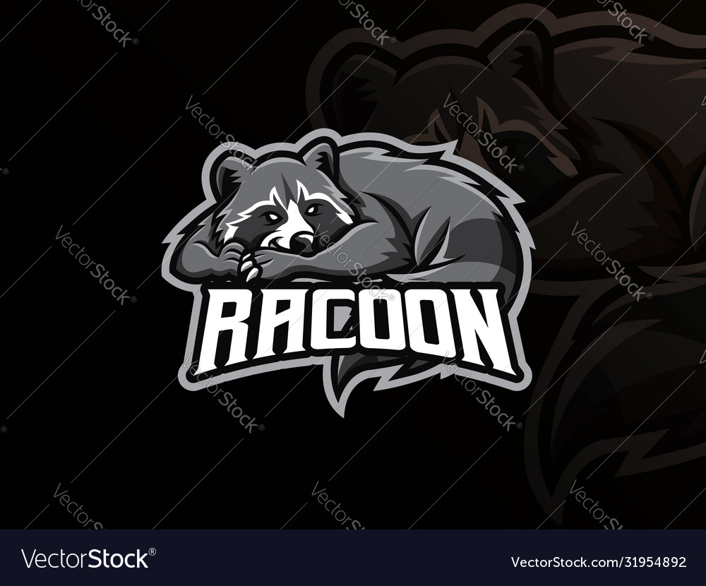 Raccoon mascot sport logo design