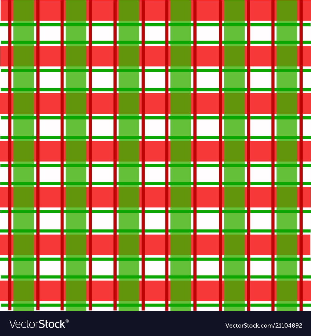 Red And Green Scotch Pattern For Christmas Vector Image