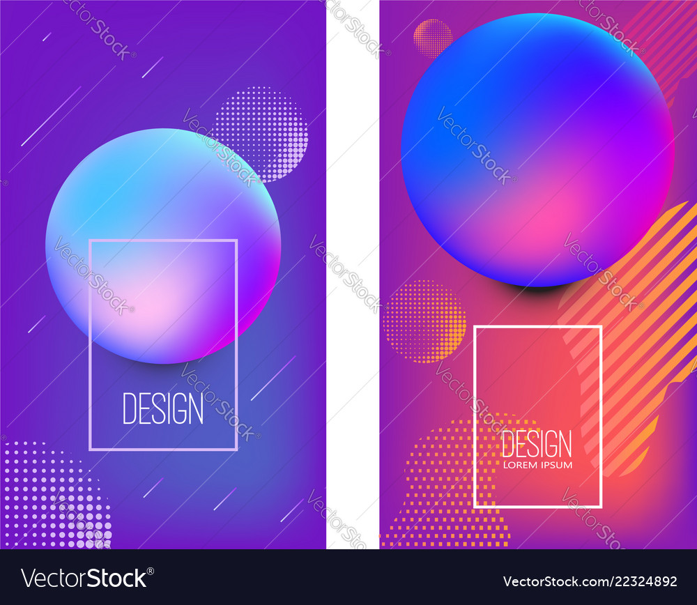 Set banner design templates with abstract