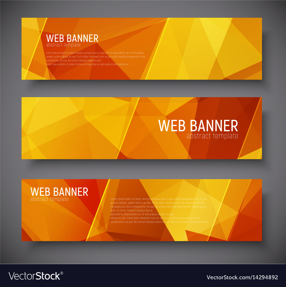 Template banners with abstract polygonal
