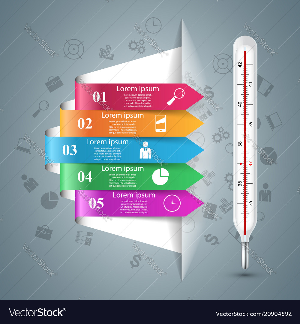 Thermometer business infographics health icon