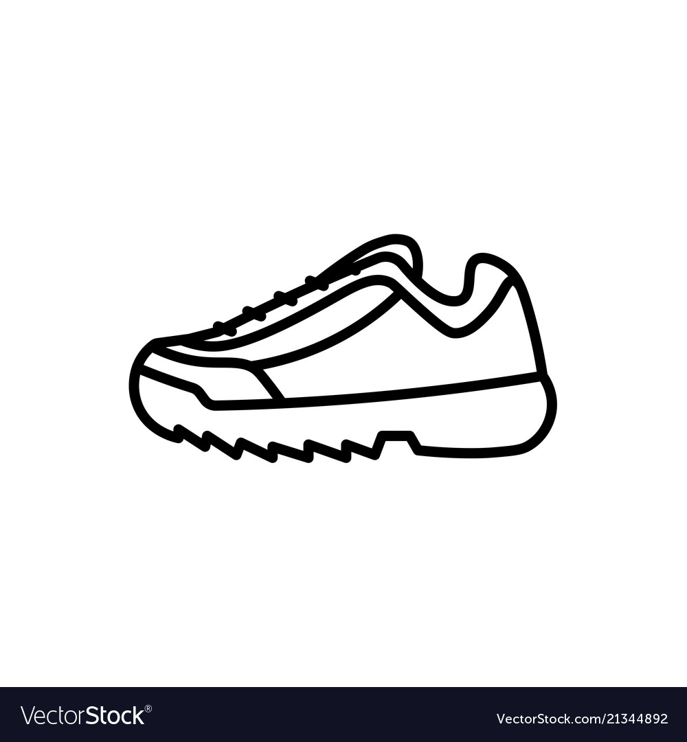 Trendy fashion sport shoe sneaker icon