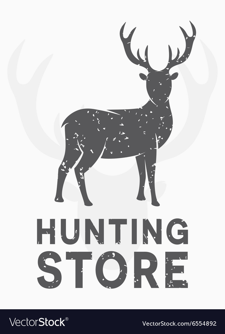 Vintage logo hunting and shooting store
