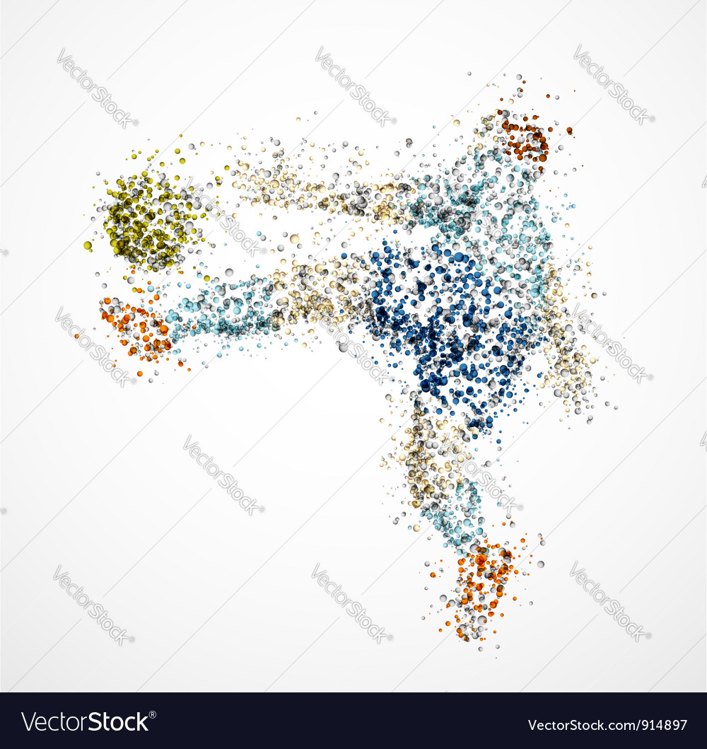 Abstract football player3 vector image