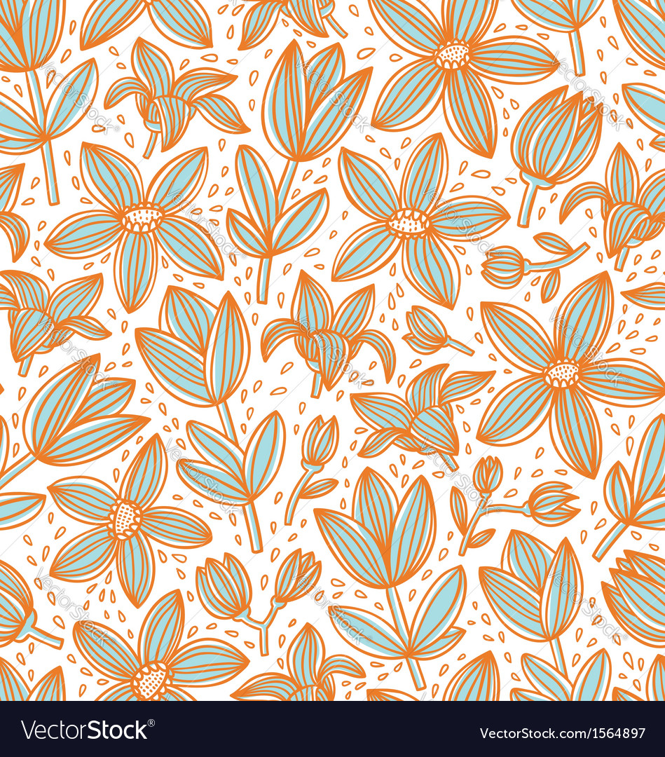 Lined floral pattern