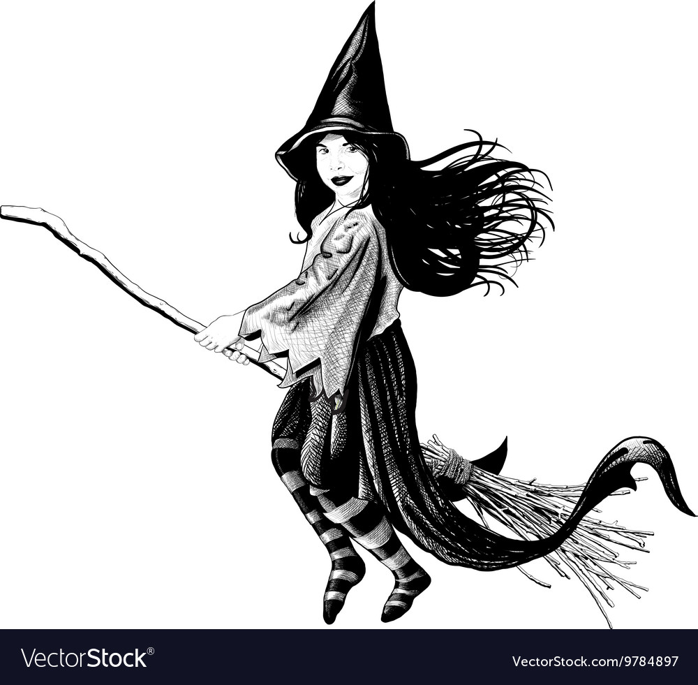 Little girl witch