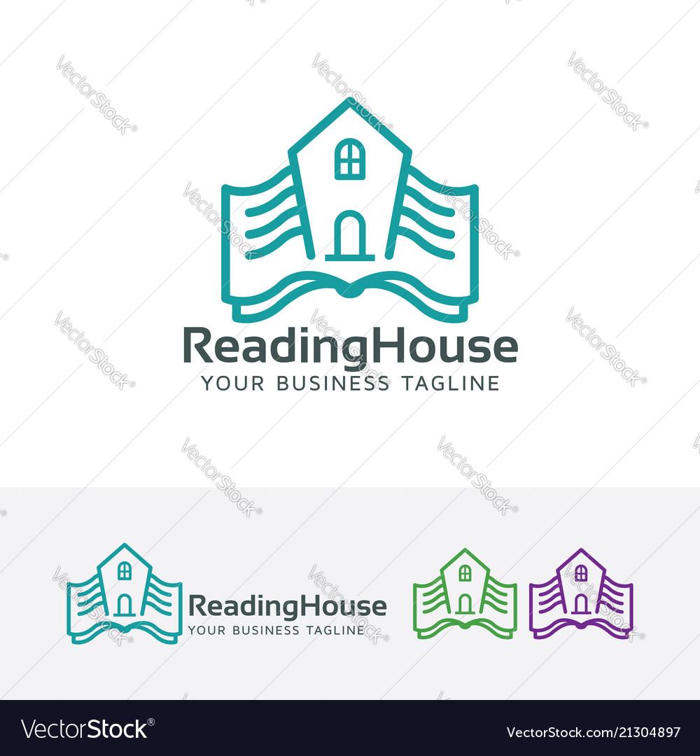 Reading house logo design