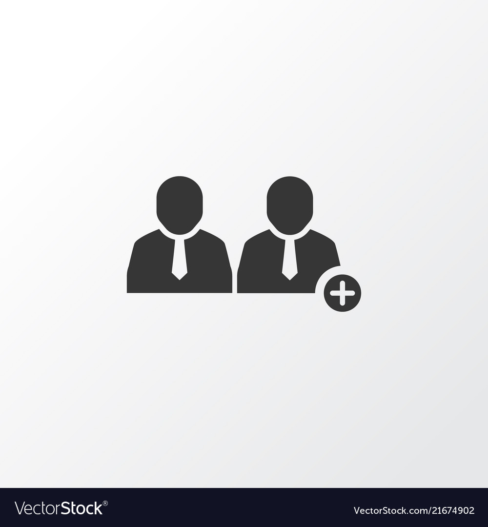 Add team icon symbol premium quality isolated