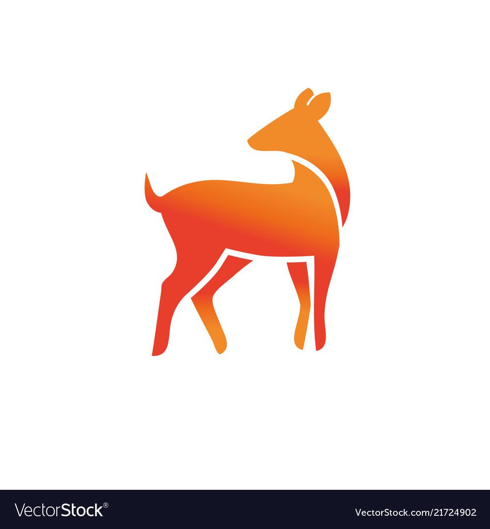 Animal wild deer logo sign