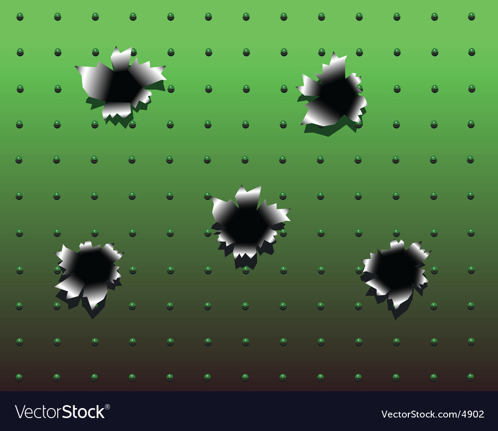 Bullet holes vector image