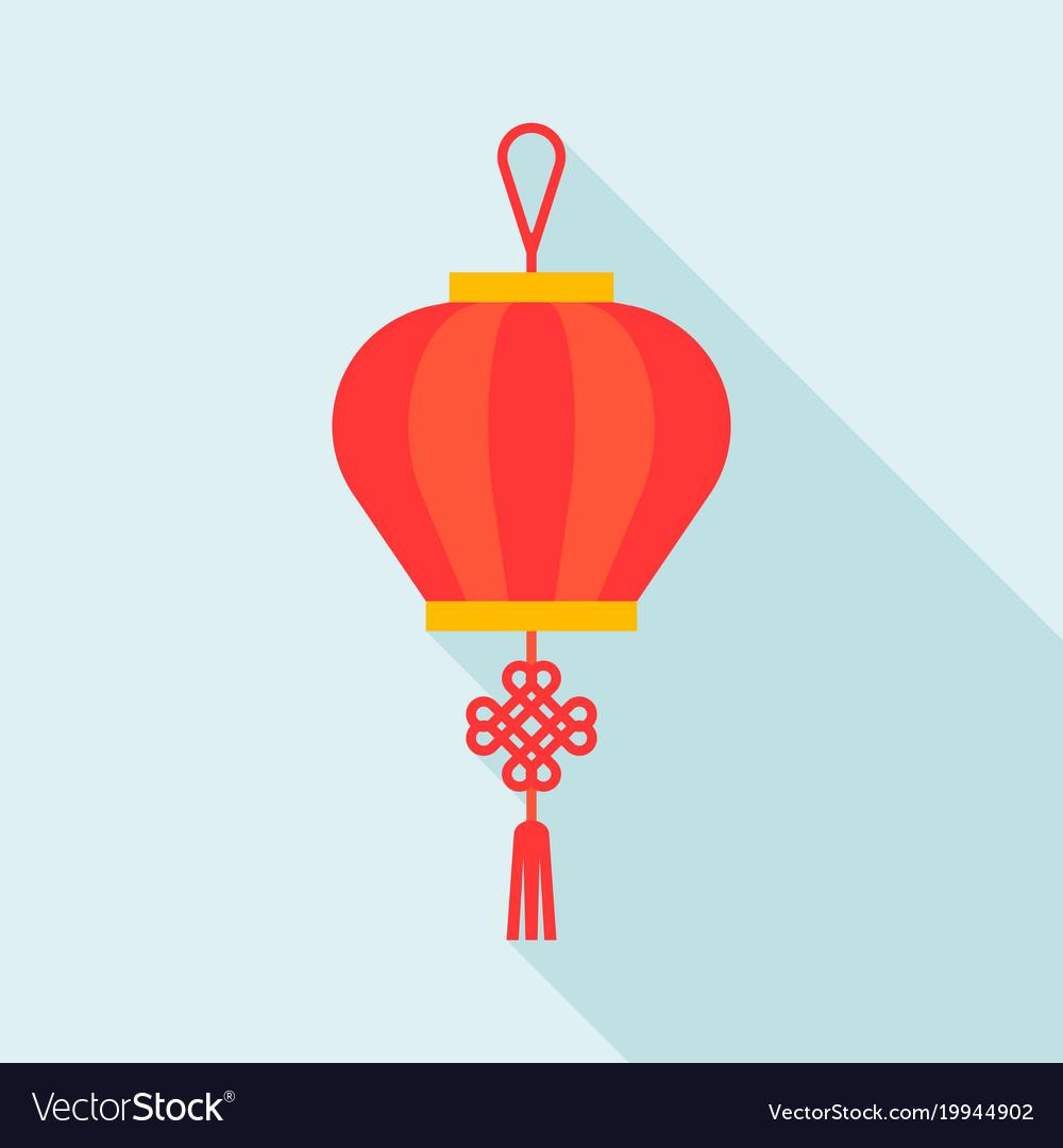 chinese lantern flat design icon royalty free vector image