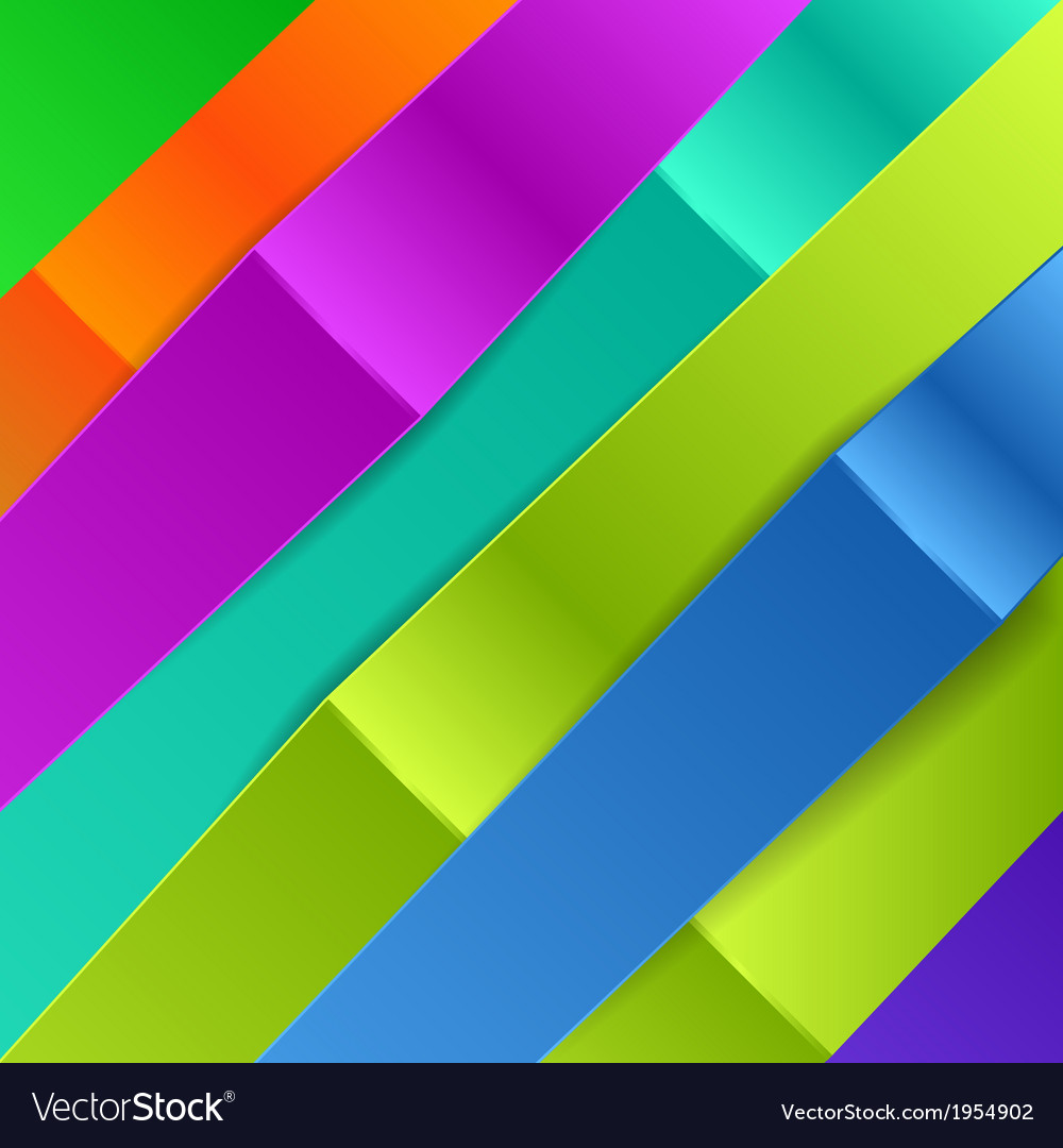 Colorful diagonal banners for business