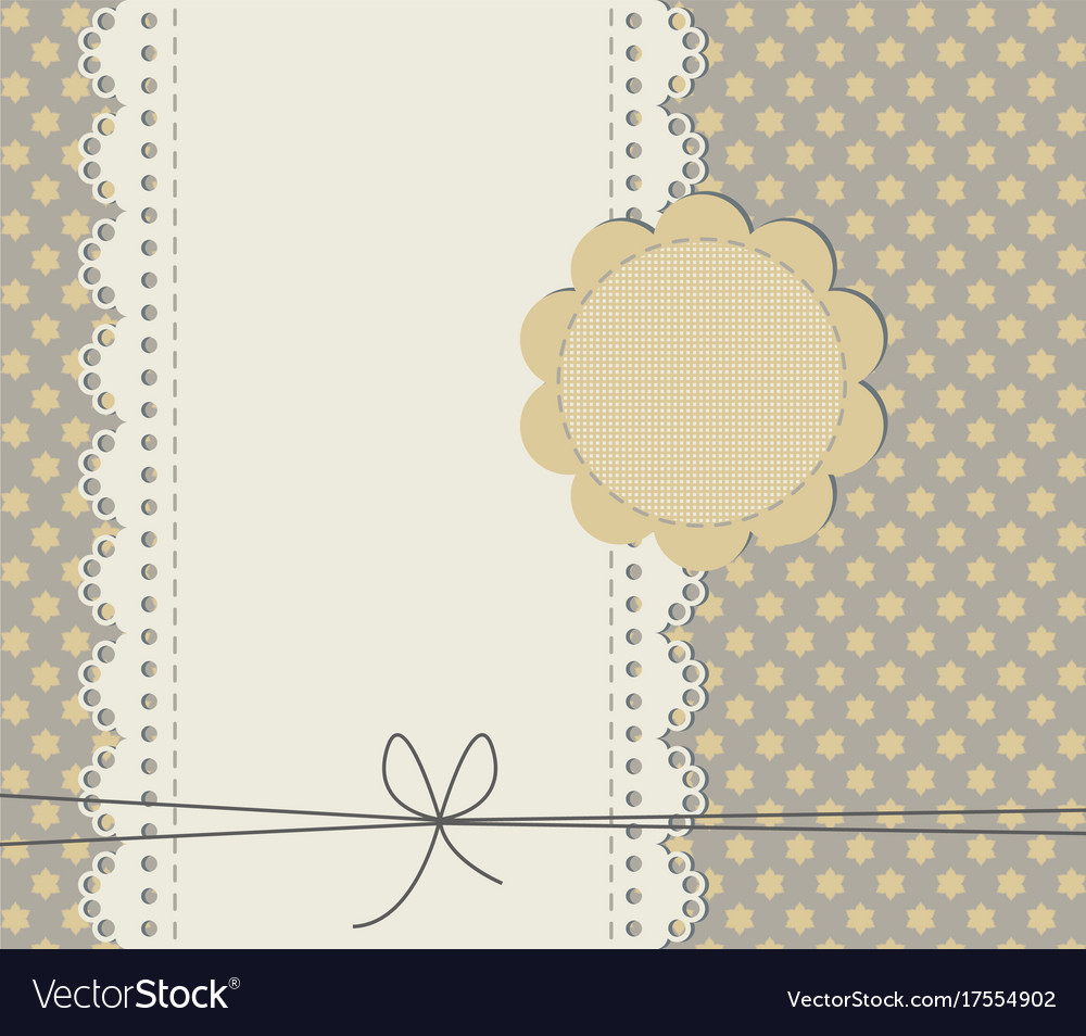 Cute baby shower card with copy space