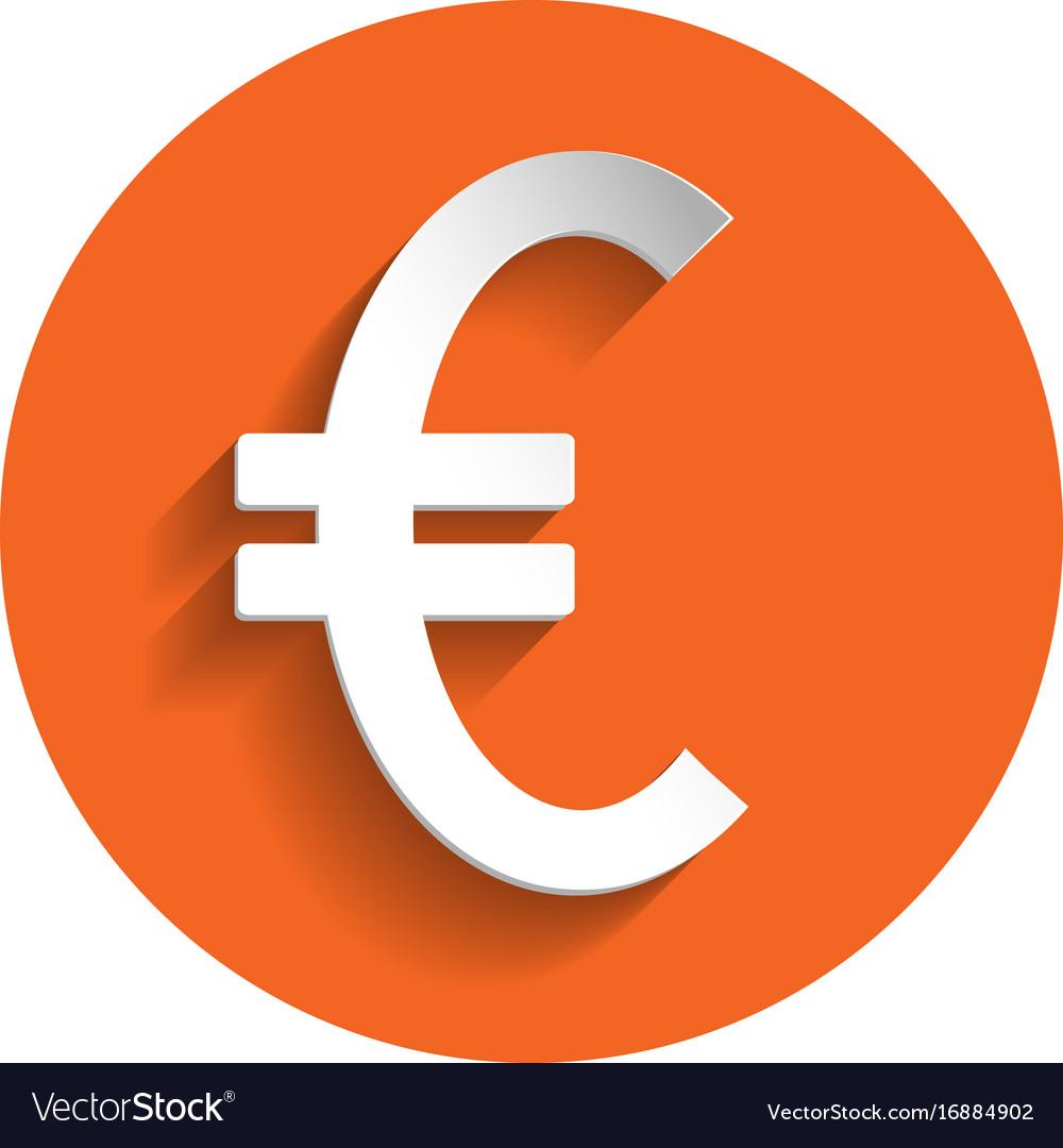 Euro icon paper style