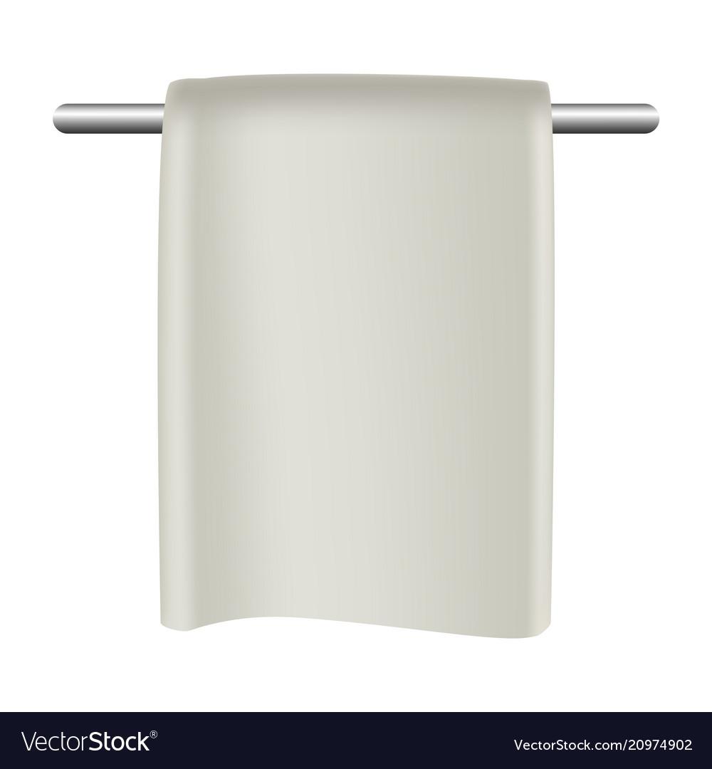 Towel in bathroom mockup realistic style