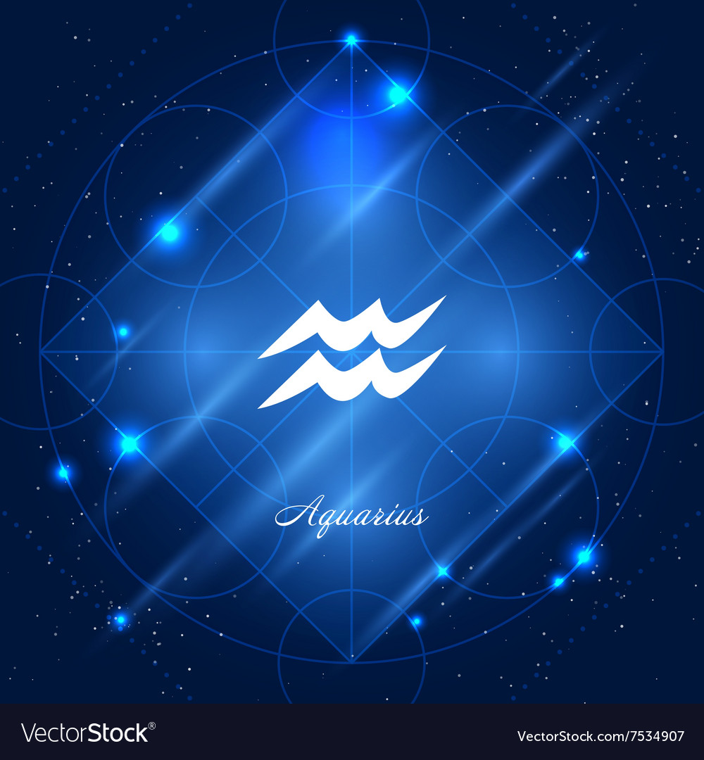 Aquarius Sign Of The Zodiac Royalty Free Vector Image