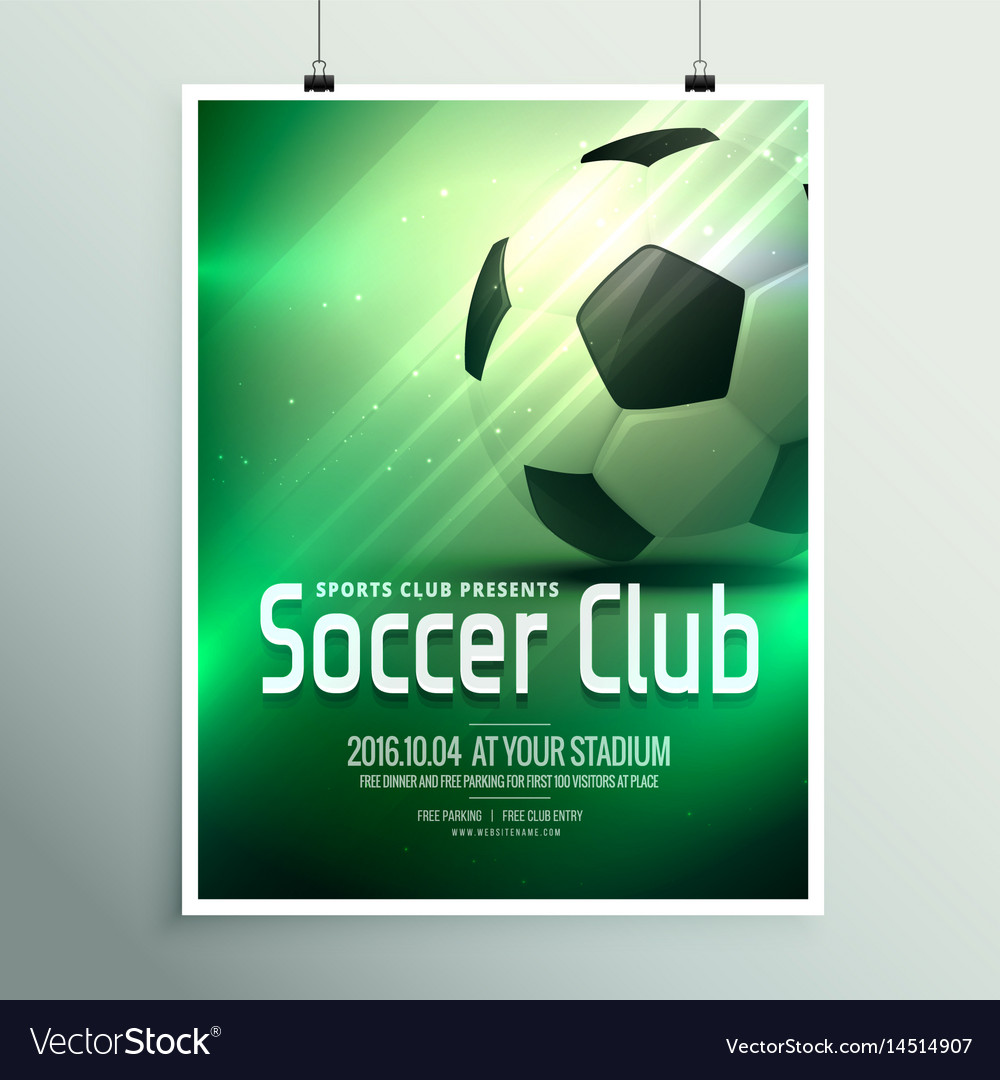 Awesome Sports Flyer Poster Design Template With