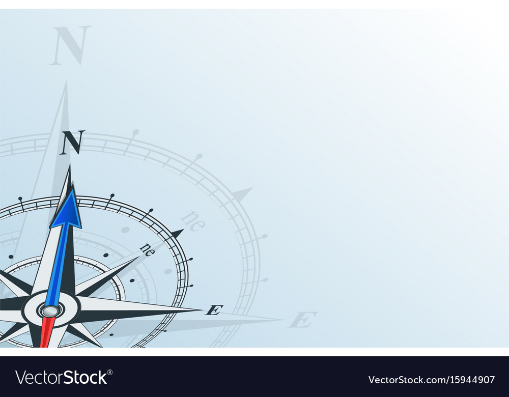 Compass north background vector image