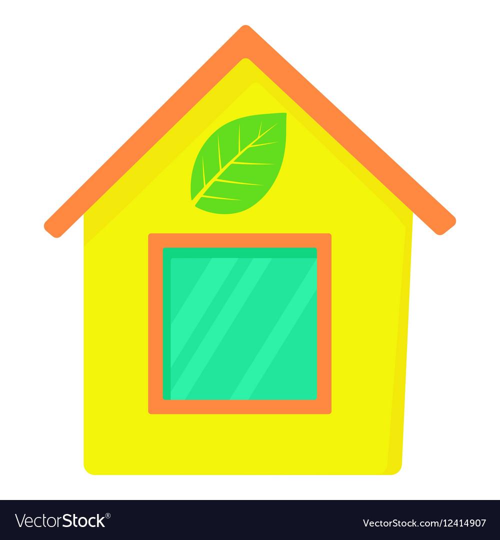 Eco house icon cartoon style
