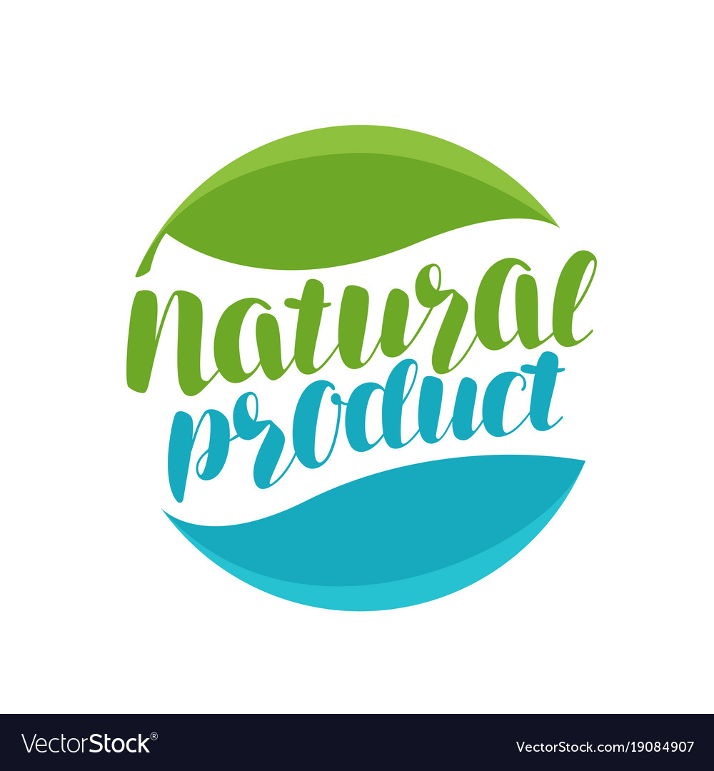 Natural product logo or label organic icon