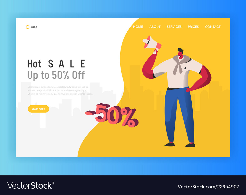 Online sale for landing page shopping
