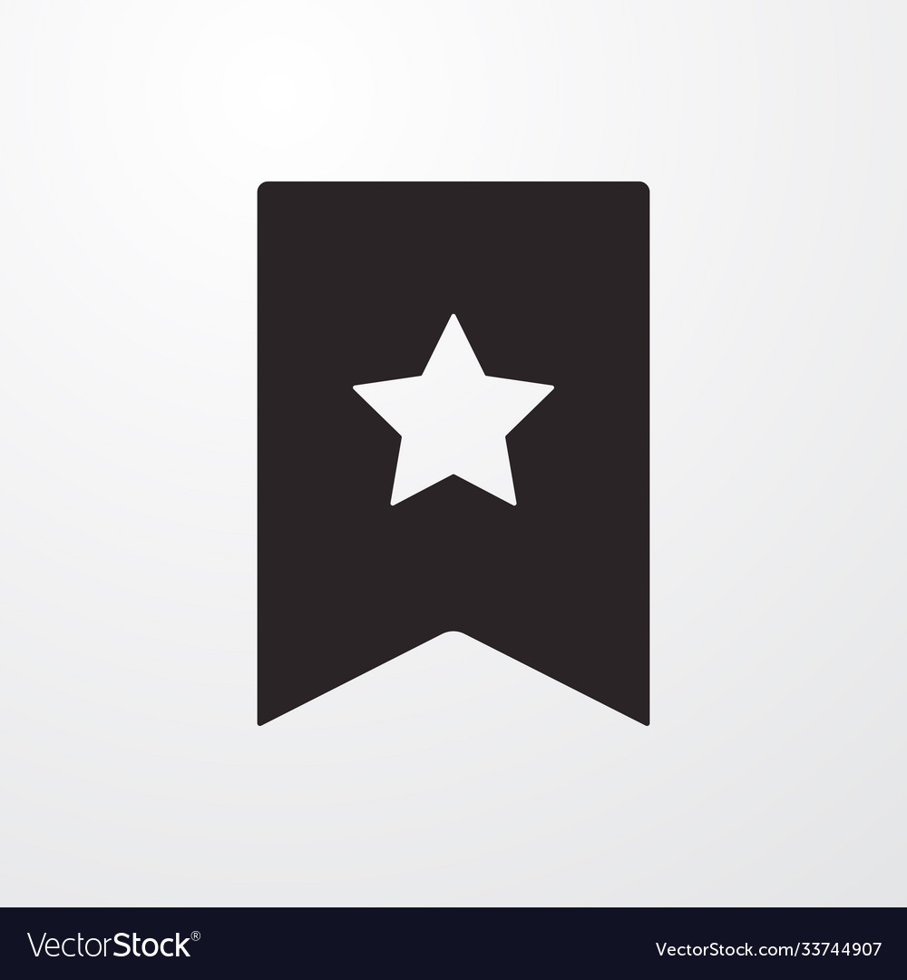 Reward favorite sign icon flat design sty