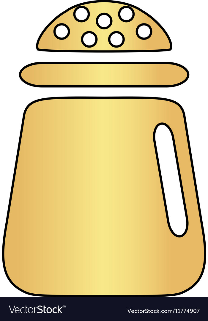 Salt Computer Symbol Royalty Free Vector Image
