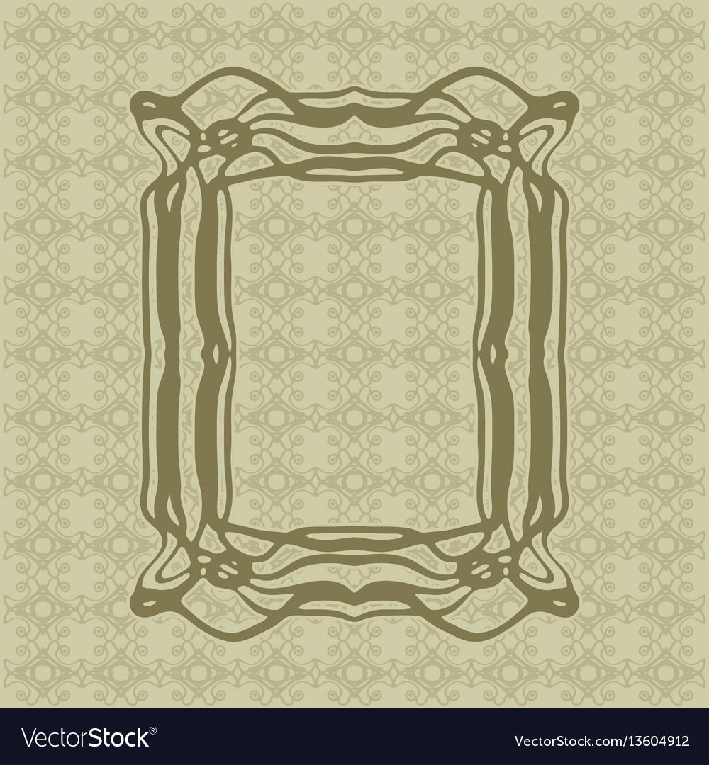 Art nouveau smooth lines decorative rectangle