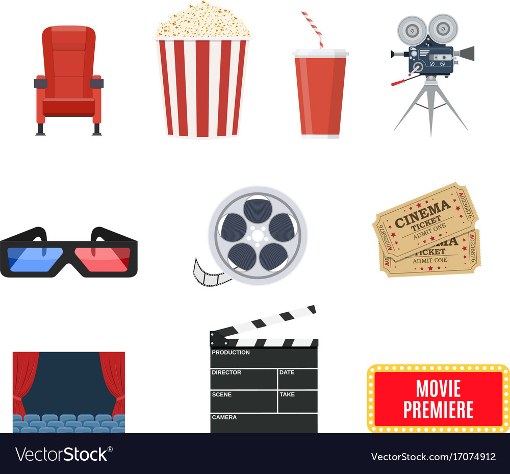 Cinema set of design elements