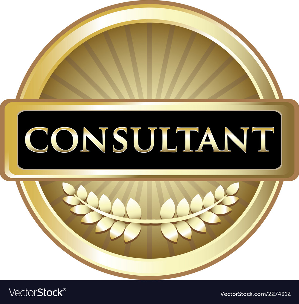 Consultant Gold Vintage Label vector image