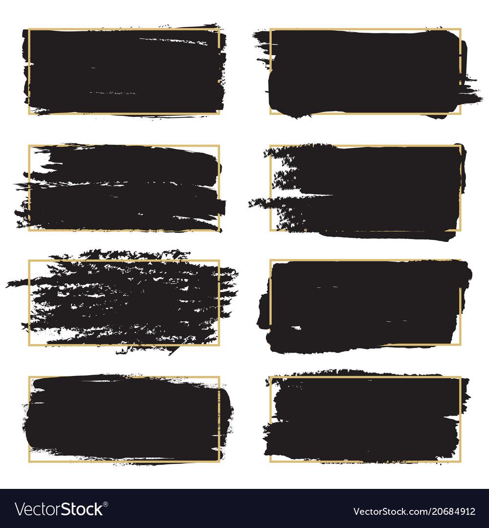 Dirty grunge design elements - black paint