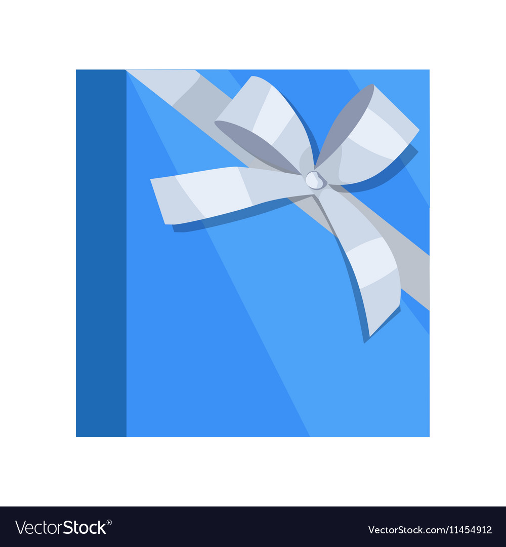 Gift Box Icon in Flat Style Design