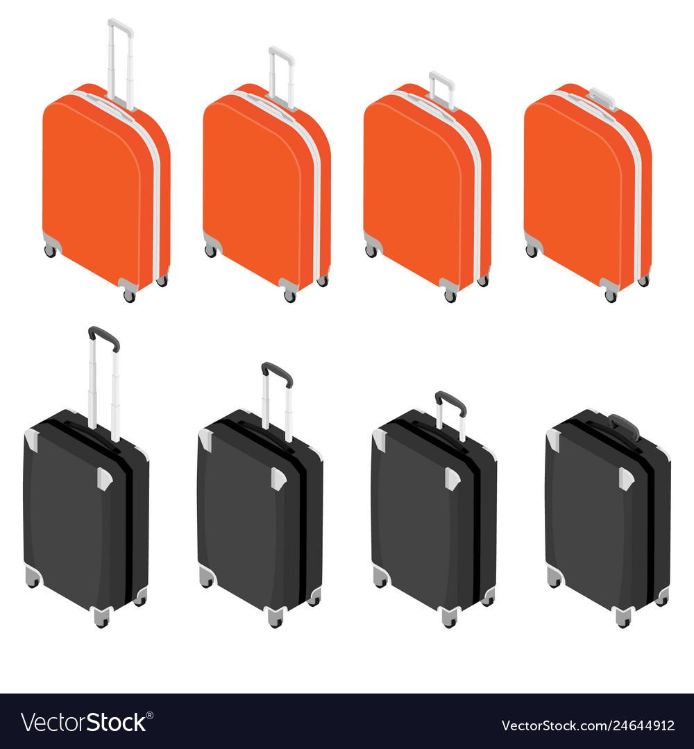 Isometric travel suitcase