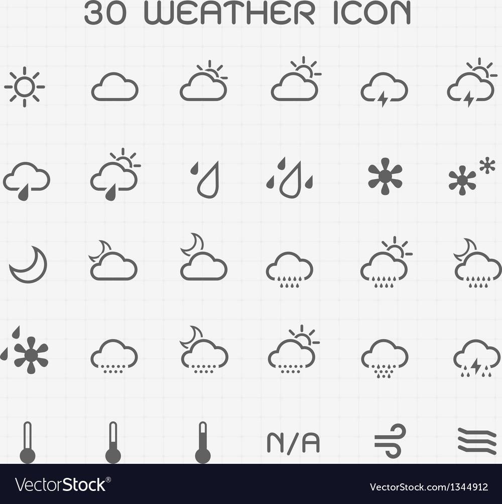 Monotone weather icon set
