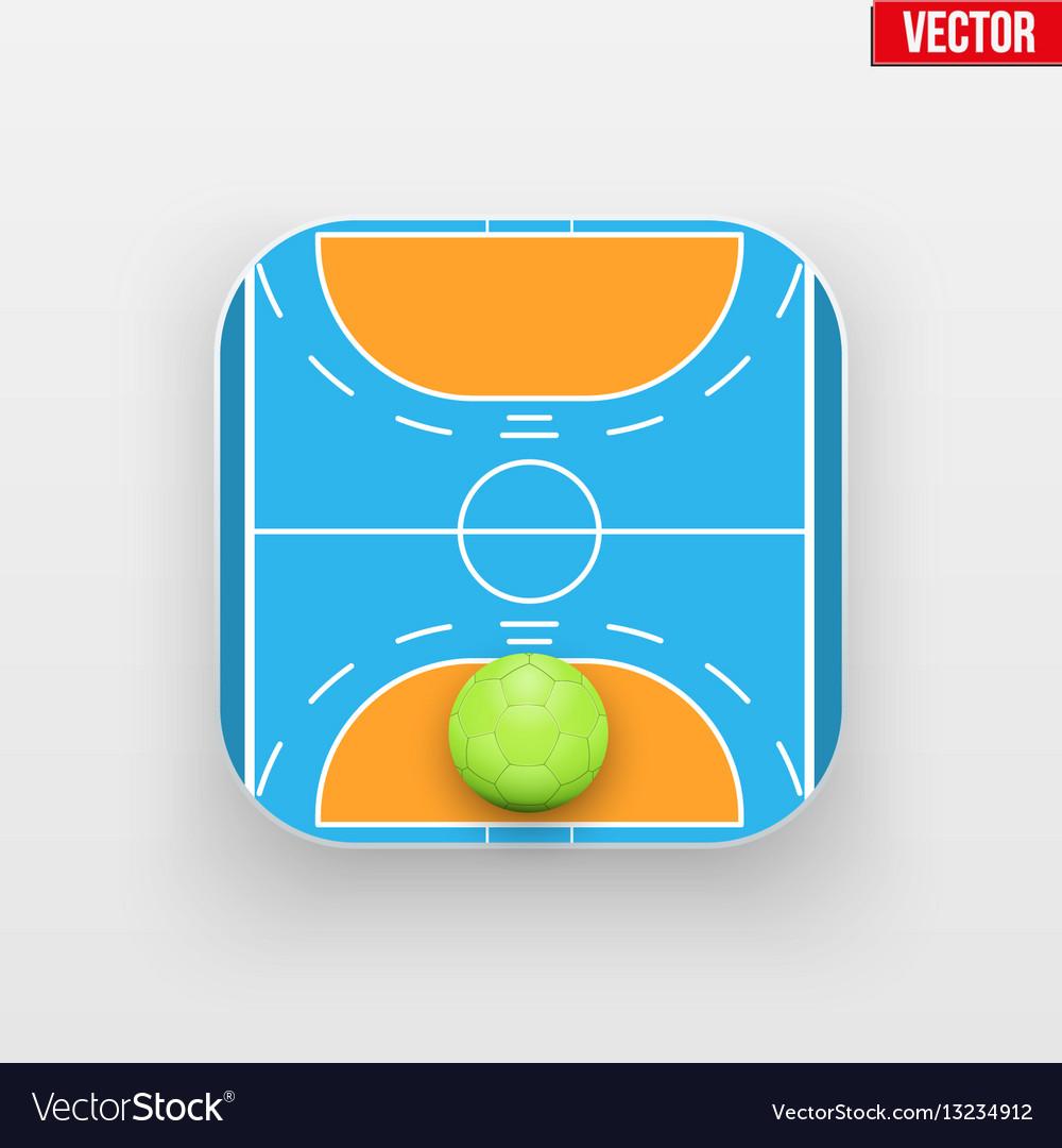 Square icon of handball sport