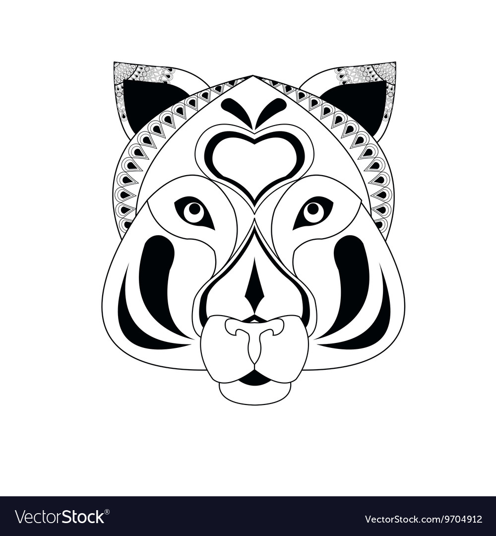 Tiger icon Animal and Ornamental predator design