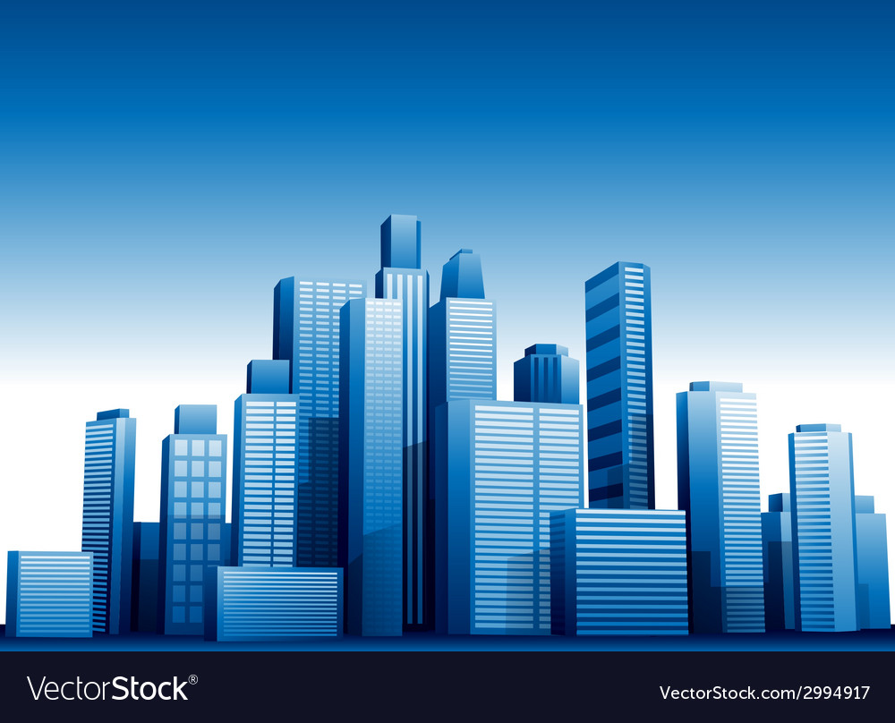 3d Cityscape Buildings Background Royalty Free Vector Image