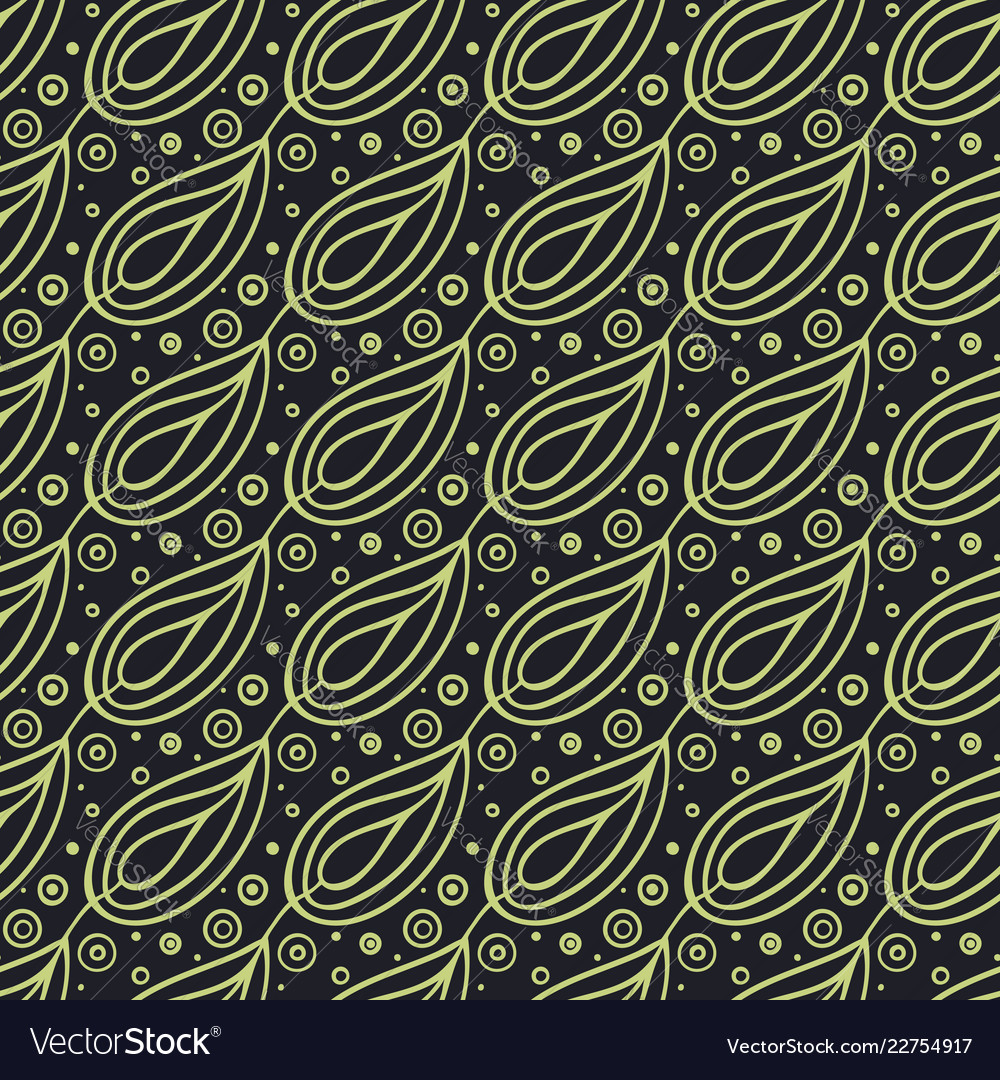 Abstract geometric pattern floral oriental ethnic