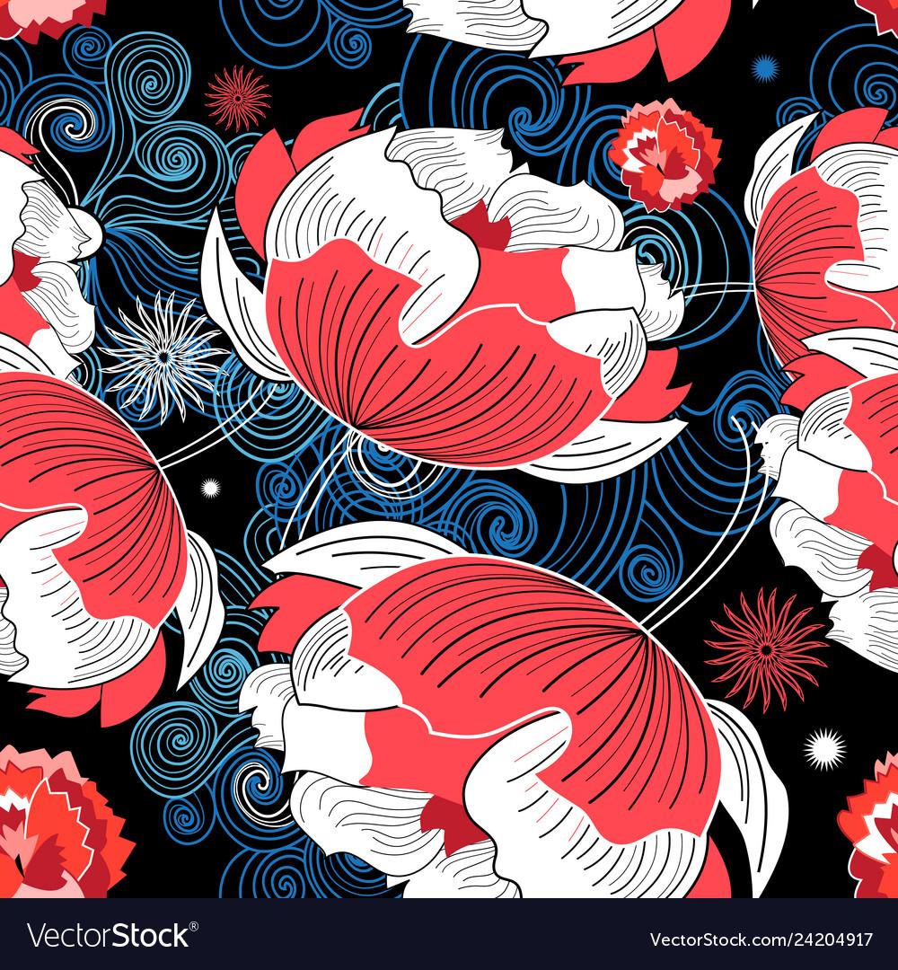 Beautiful graphic seamless pattern