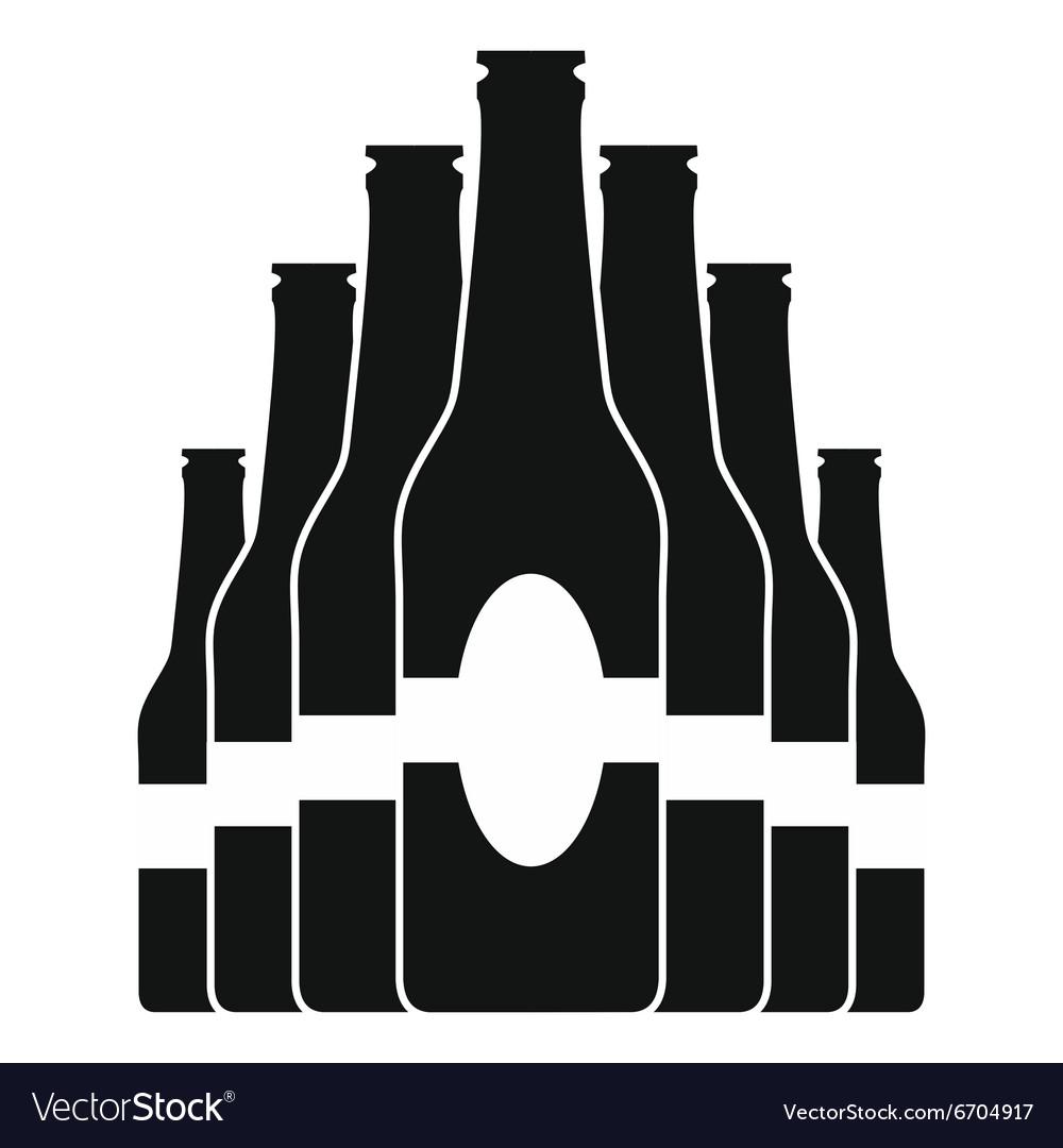 Bottles set black icon