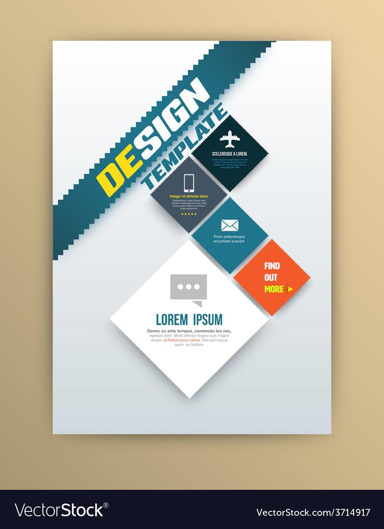 Brochure design template flyer layout magazine vector image
