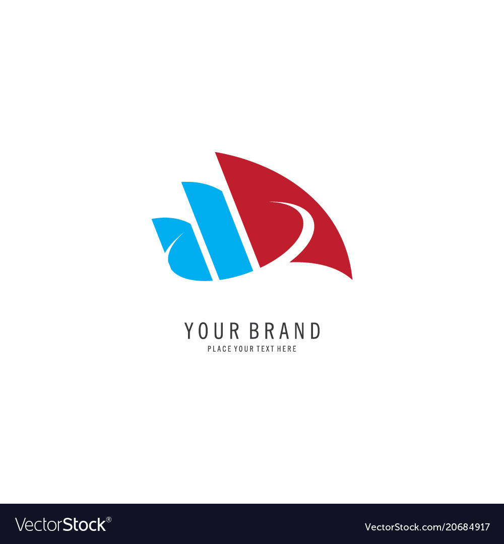 Business finance symbol logo vector image