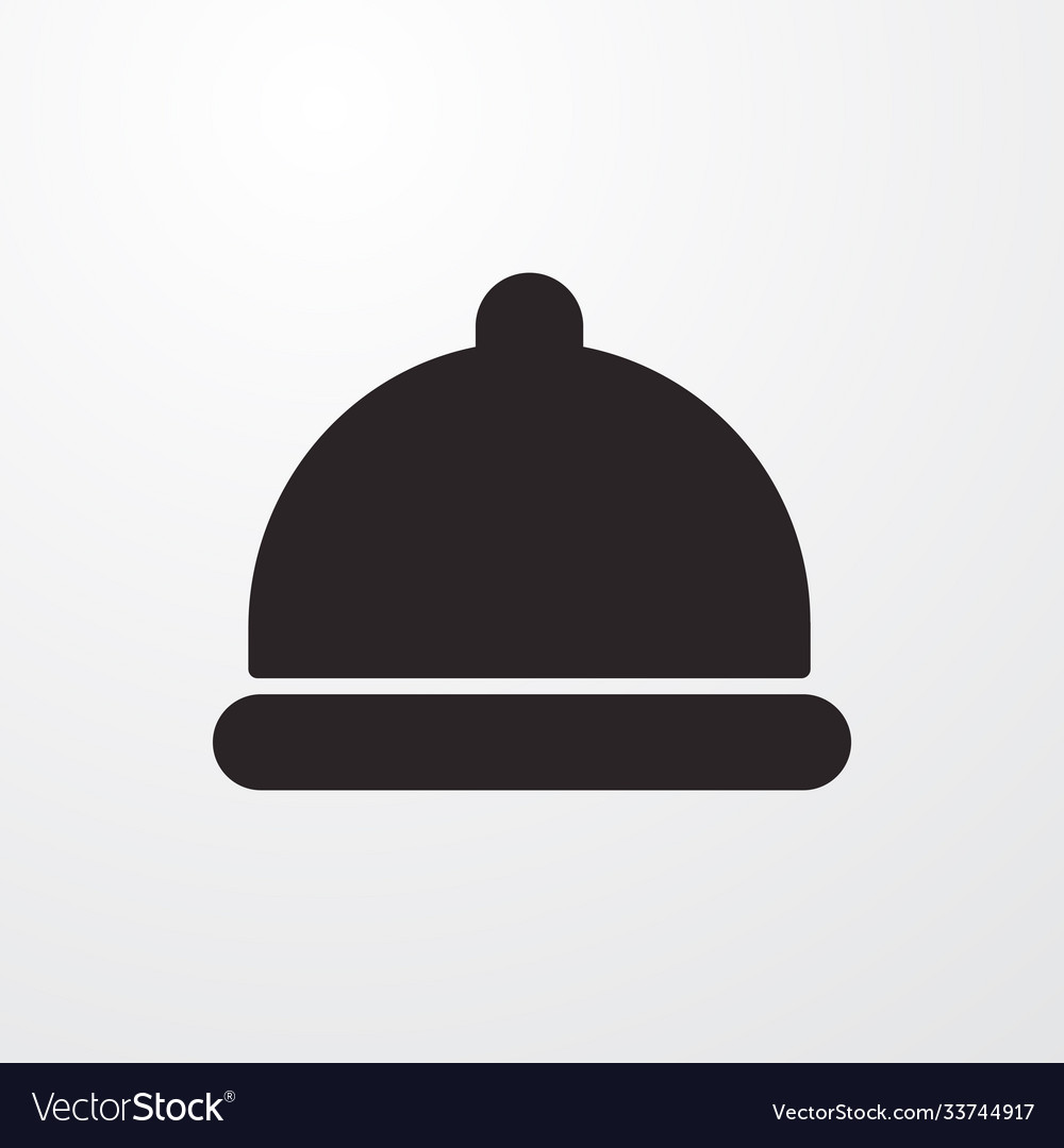 Concierge bell sign icon flat design styl