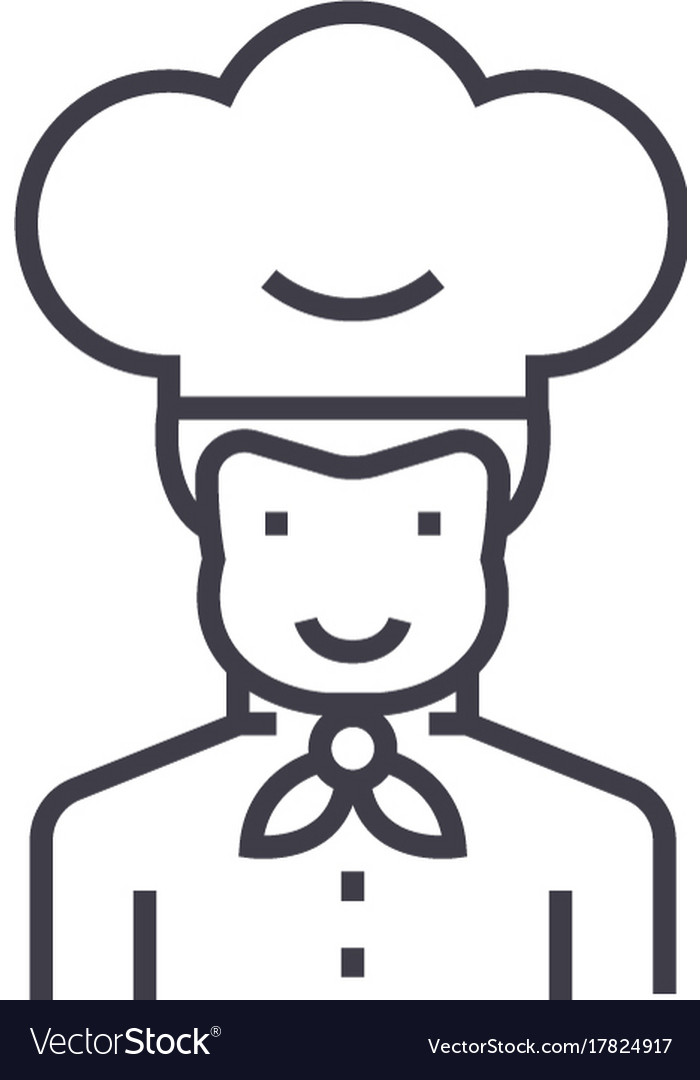 Cook line icon sign on